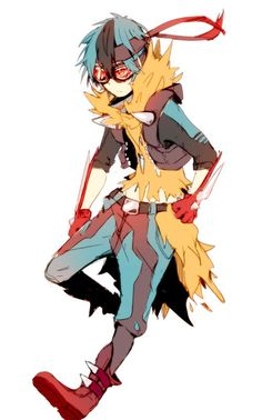 human version gijinka pokemon, mega lucario: