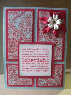 Stampin' Up Lexicon of Love stamped card