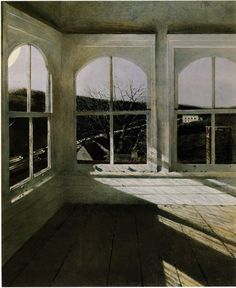 Sash window. painting by Andrew Wyeth.