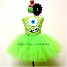 Monsters Inc. Tutu Dress- Sizes 0-10 years old on Etsy, $40.00