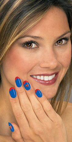 Supergirl nail strips - Great Supergirl  Costume Accessory