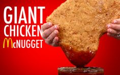 GIANT CHICKEN McNUGGET - I guess at this point we're just making our way around the Giant block with our staple junk food recipes. Luckily Julia & JP can't agree on anything so onc Mcdonald French Fries, Giant Food, Ground Chicken, Foods To Avoid, Chicken Nuggets, Recipe Details, Chicken And Vegetables, Mcdonalds, Recipe Using