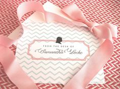 chevron and silhouette notecards