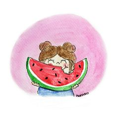 Illustration, Watermelon, Instagram, Drawings, Watercolor Painting, Paper Envelopes, Summer Time, Illustrations