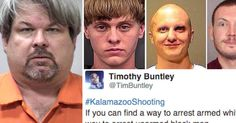 Twitter calls out media and police for double standards in Kalamazoo killings.