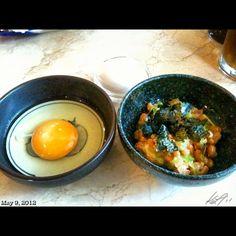 自分的にメインはこっち。 #nattou ##japanese #food #lunch #philippines #フィリピン #ランチ #卵かけごはん #納豆