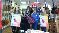 The Movilla Abbey Senior section with Natalie Holman and the winning guitar!