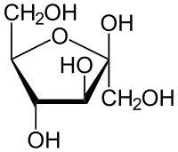 β-D-Fructose structure