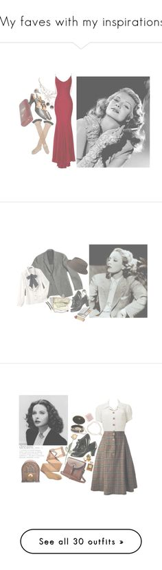 """""""My faves with my inspirations"""" by mickjaggerismydrug ❤ liked on Polyvore featuring Jade Jagger, Trasparenze, Zac Posen, hollywood, 1940s, ritahayworth, Margaret Howell, Alexis Bittar, Whiting & Davis and France Luxe"""