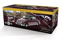 Model-Icons packaging for Inspector Morse Jaguar Mark 2 - after receiving licensing approval from ITV.
