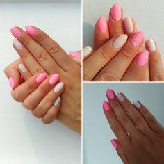 Cukierkowe mani        #homemade #homenails #summer #holiday #mani #semilac #hibrid #nails #sleepingbeauty #biscuit…