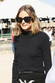 Model/actress Olivia Palermo attends the Nina Ricci show as part of the Paris Fashion Week Womenswear Spring/Summer 2018 on September 29 2017 in...