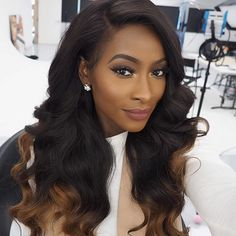 """Had to test out the awesome lighting at the NYX studio. Hair info- Brazilian hair 22"""" 5 bundles with a frontal. No leave out. Hair provided, coloured and made into a wig by @officialhoneyhand"""