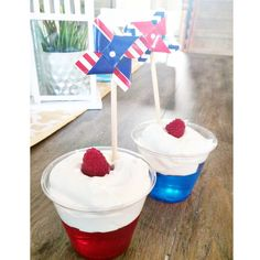 4th of July Jello Parfaits - a fun dessert for kids and adults!