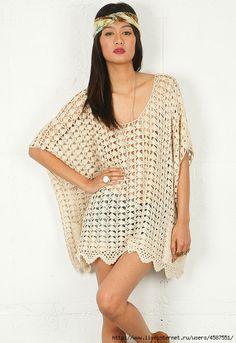 Inspirações de Croche com Any Lucy: Vestido/Túnica ou Saida de Praia