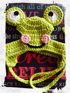 Nina's Hats - Little Frogger , $20.00 (http://www.ninashats.com/little-frogger/)