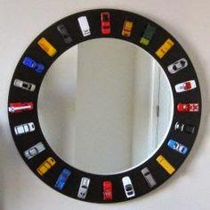 Hot Wheels Racing League: Hot Wheels DIY Mirror Hot Wheels around the mirror...cool. #hotwheels #mirror
