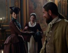 Claire Fraser (Caitriona Balfe) and Murtagh (Duncan LaCroix) in Season Two of Outlander on Starz, Episode 3: Useful Occupations And Deceptions via http://kissthemgoodbye.net/PeriodDrama/thumbnails.php?album=537