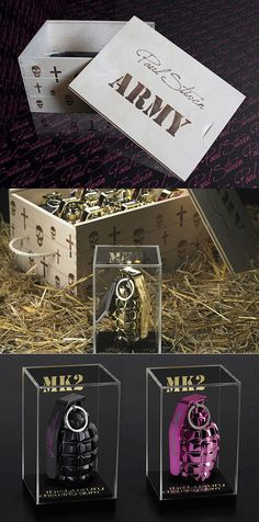 Paul Stiven's Army Collection of Luxury Chewing Gum, packaged in MK 2 Hand Grenades