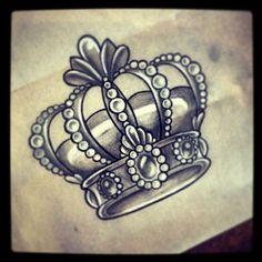 King tattoo design ,crow tattoo