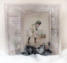 ✯Faded glory✯ Seaside shabby chic handmade card by ♛Minna♛