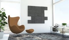 Rimpi wall panels collection. Custom Coal color