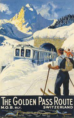 Switzerland 1934 _________________________ #Vintage #Travel #Poster