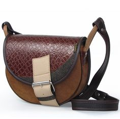 LEATHER SHOULDER BAG WOMEN FRESHMAN 512 via Vintage Leather Bags. Click on the image to see more!
