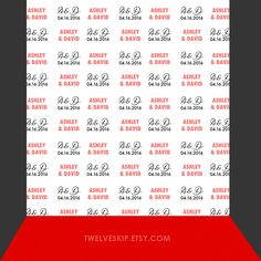 Step & Repeat Backdrop for a Wedding! You can personalize it.