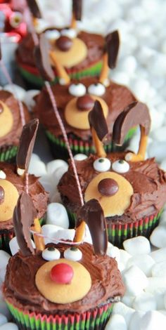 Reindeer Cupcakes - Half Baked Harvest - Made with Love