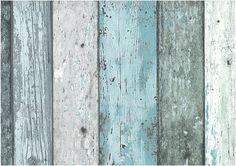 Behang compactvinyl op vlies sloophout groen 7328-3