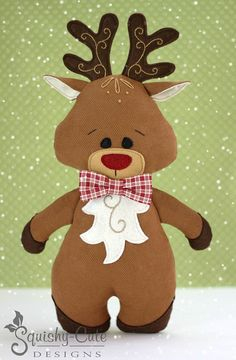Reindeer Sewing Pattern PDF Reindeer by SquishyCuteDesigns