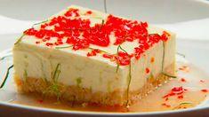 Faux gâteau au fromage à la lime : crème fouetté et lait condensé sucré (faire sans sauce aux piments)