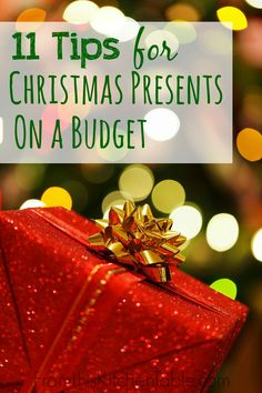 11 Tips for buying Christmas presents on a tight budget! Perfect for those of us that need (or want) to spend less this year. Check them out!