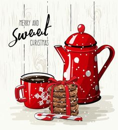 """USELESS LINK - but a nice tag to give with gift baking or a coffee-related gift at Christmas. I might write """"Have a"""" in front of the """"Merry and Sweet Christmas"""". Christmas Store, Noel Christmas, Christmas Pictures, All Things Christmas, Winter Christmas, Vintage Christmas, Christmas Crafts, Christmas Decorations, Christmas Coffee"""