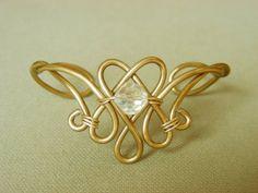 BLEEDING HEART   Elven Bracelet Cuff. $14.00, via Etsy.