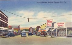 Harrison Avenue , PANAMA CITY , Florida , 30-40s ; Drug STore. We lived close to Harrison Ave.