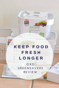 Keep Food Fresh Longer: OXO Greensavers Review & Giveaway