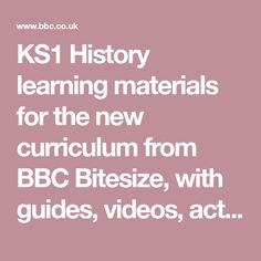 KS1 History learning materials for the new curriculum from BBC Bitesize, with guides, videos, activities and quizzes. BBC Bitesize – We've got you! Quizzes, Curriculum, Bbc, You Got This, Activities, Education, History, Learning, Videos