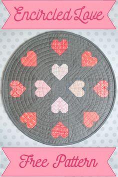 Encircled Love - Free Mini Quilt Pattern