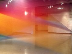 Plexus 21 by Gabriel Dawe at Gutstein Gallery. SCAD - 2 interacting pieces created in more than 80 miles of continuously individually strung Guütermann polyester sewing thread