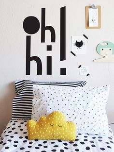 Oh Hi WALL DECAL by TheLovelyWall on Etsy