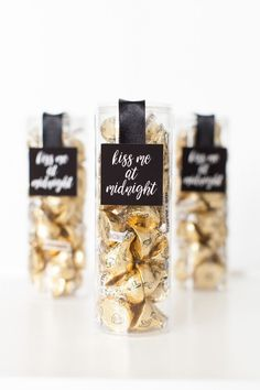 4 Darling DIY New Year's Eve Projects | Kiss Me at Midnight Candy Favors designed by The TomKat Studio