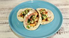 """Spicy Grilled Shrimp Taco (Cinco de Mayo Fiesta) - Talya Salya, Winner of the """"Superfan Cook-Off"""", on """"The Chew"""" on ABC. Best Grilled Shrimp Recipe, Spicy Grilled Shrimp, Shrimp Tacos, Grilled Meat, The Chew Recipes, Cooking Recipes, Healthy Recipes, Veggie Recipes, Spanish Dishes"""