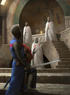 r/ImaginaryKnights: Art featuring medieval knights and their fantasy/sci-fi counterparts. Medieval Knight, Medieval Armor, Medieval Fantasy, Crusader Knight, Knight Armor, Armadura Medieval, Landsknecht, Chivalry, Knights Templar