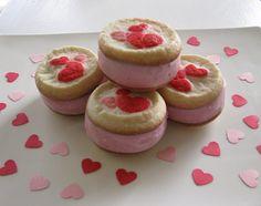 Valentines ice cream sandwiches
