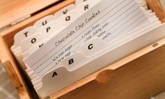 Recipes indexed neatly on cards - frighteningly well organised. Photograph: Radius Images/Alamy
