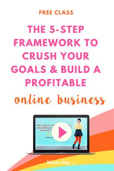 Ever wish you had a step-by-step  roadmap for effectively growing your online business everyday? Maybe you're not sure what tasks to focus on to maximize your time and effort? Learn how to set business goals and achieve them in this brand new free class with Allison of Wonderlass!     #goalsetting #productivitytips #todolist #savetime #businessplanning #entrepreneurmindset #businesstips #onlinemarketing
