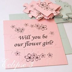 Puzzles are fully customisable! Please leave us NOTE during checkout if you want to add flower girl NAME OR if you want to change FONT. (see