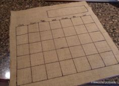 DIY Dry Erase Calendar Board is part of Organization Calendar Board - I made a dry erase calendar board from an old picture frame and burlap Instead of buying dry erase markers, I just use a Sharpie instead I love having the c… Picture Frame Projects, Old Picture Frames, Calendar Board, Diy Calendar, Calendar Organization, Household Organization, Diy Organization, Organizing Ideas, Classroom Organization